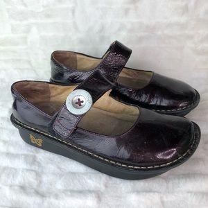 Alegria Plum Leather Mary Jane Size 8